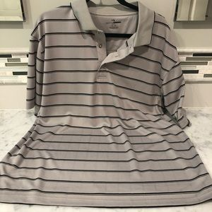 grand slam gray / black striped short sleeve tee